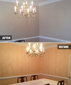 Interior Painting - Cumming, GA Dining Room, Hall, and Bedrooms - Kimberly Painting